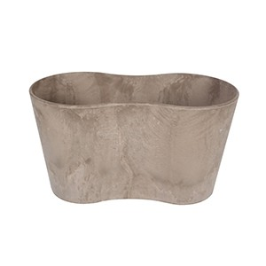Artstone Claire Duo Flower Pot Taupe