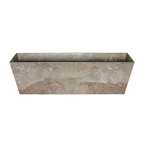 Artstone Ella balcony trough taupe