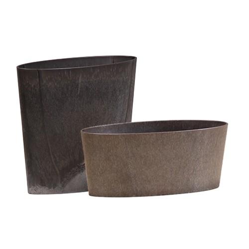oval - charcoal
