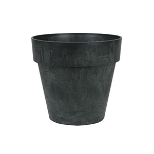 Artstone Luna flower pot black