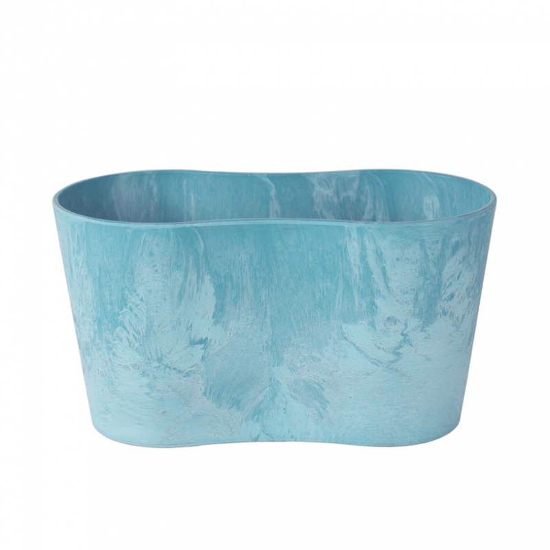 Artstone Claire Duo Flower Pot Aqua