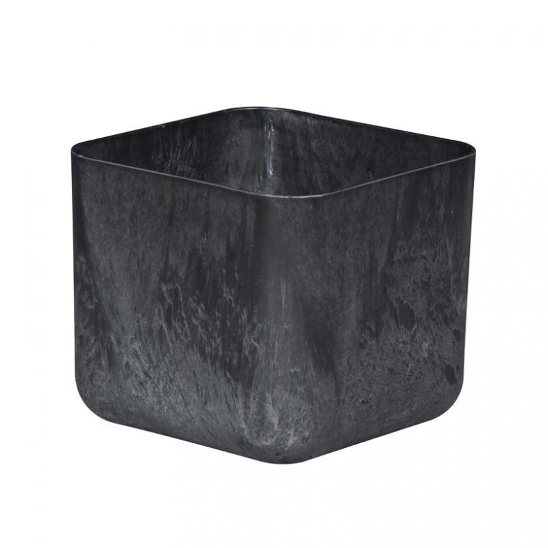 Artstone Rubik Plant Pot Black